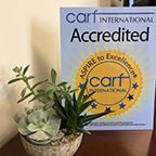 We're CARF Accredited!